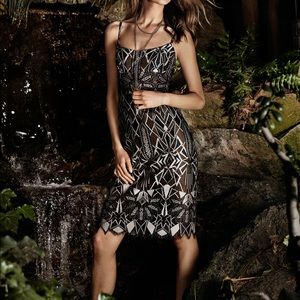 BCBGMaxAzria Aless Deco Lace Dress